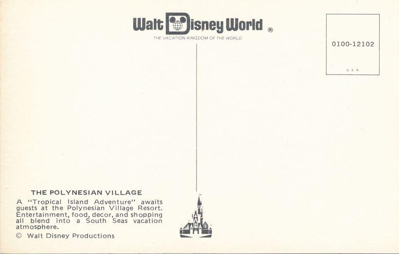 Orlando, Florida - Walt Disney World - Polynesian Village