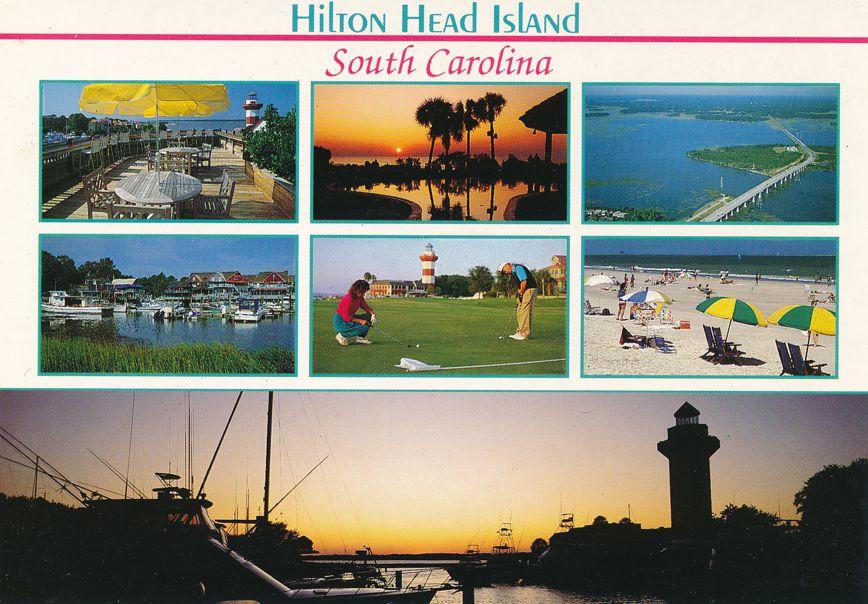 Hilton Head Island, South Carolina - Scenic Views of Popular Locations