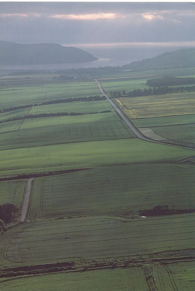 Scotland - Aerial View of Black Isle and Cromarty Firth