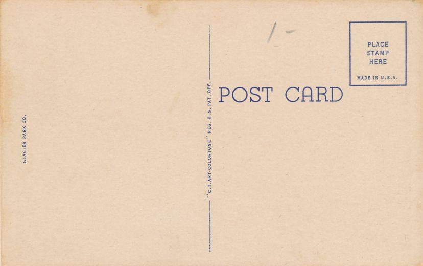 Glacier National Park, Montana - Lobby of Lake McDonald Hotel - Linen Card