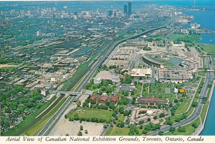 Toronto, Ontario, Canada - Aerial View of Canadian National Exhibition Grounds
