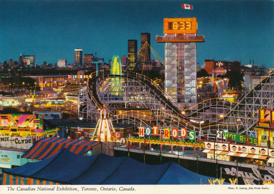 Toronto, Ontario, Canada - Midway - Roller Coaster at C.N.E.