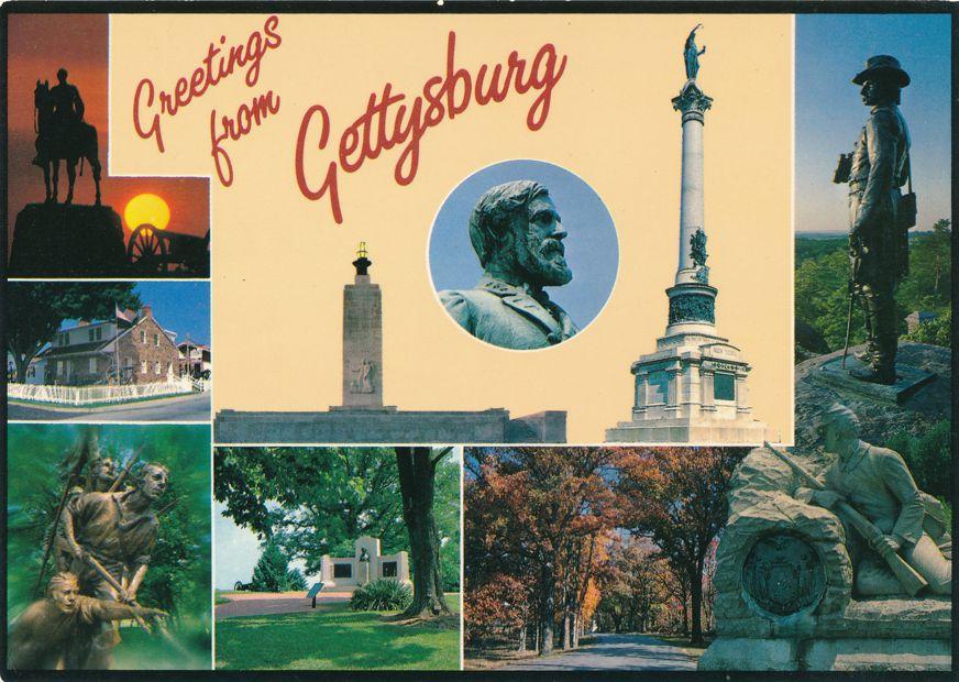 Greetings from Historic Gettysburg, Pennsylvania