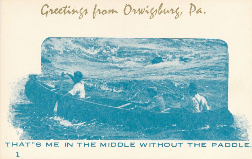 Greetings from Orwigsburg, Pennsylvania - Village Print Humor - Without Paddle