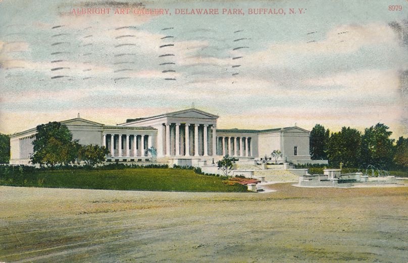 Buffalo, New York - Albright Art Gallery at Delaware Park - pm 1909 - Divided Back