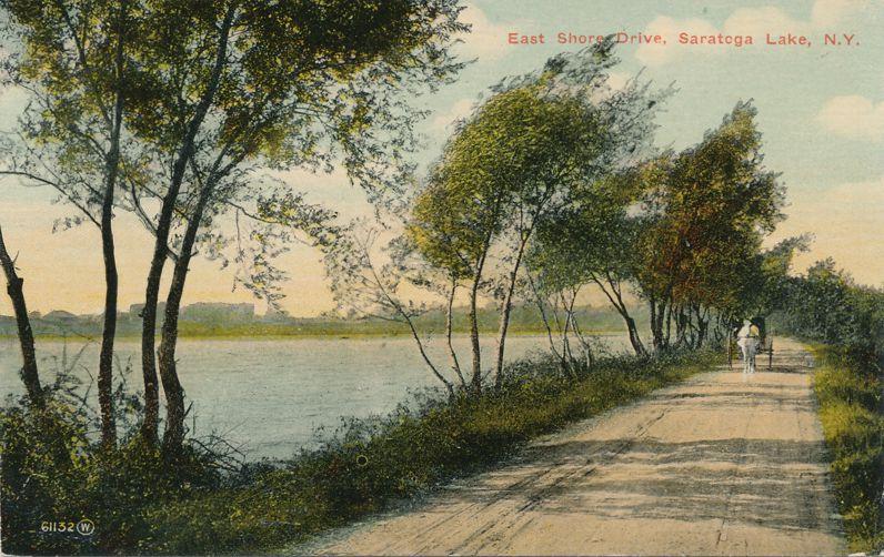 East Shore Drive of Saratoga Lake near Saratoga Springs, New York - Divided Back