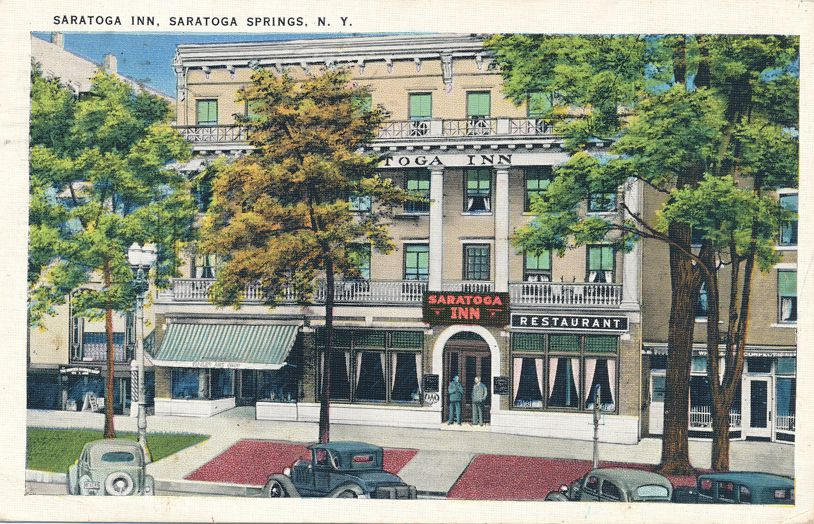 Saratoga Springs, New York - Saratoga Inn Hotel and Restaurant - pm 1938 - White Border