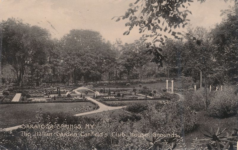 Saratoga Springs, New York - Italian Garden at Canfield Club House Grounds - Undivided Back