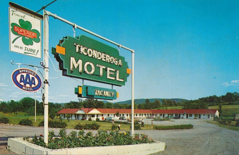 Ticonderoga, New York - Vacancy at Ticonderoga Motel - Roadside