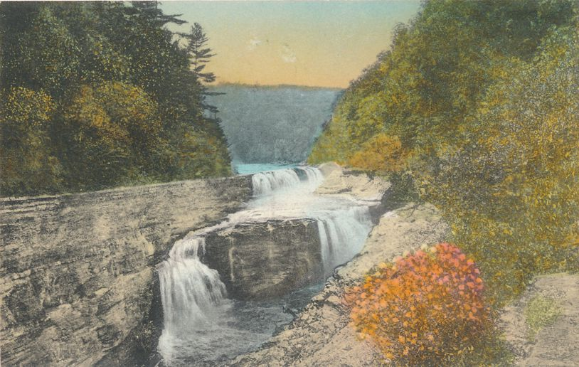 Letchworth State Park, New York near Castile - The Lower Falls