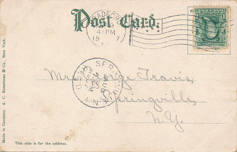 Bradford, Pennsylvania - Bird's Eye View - pm 1907 - Undivided Back
