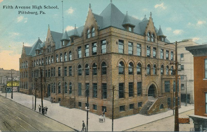 Pittsburgh, Pennsylvania - Fifth Avenue High School - Divided Back
