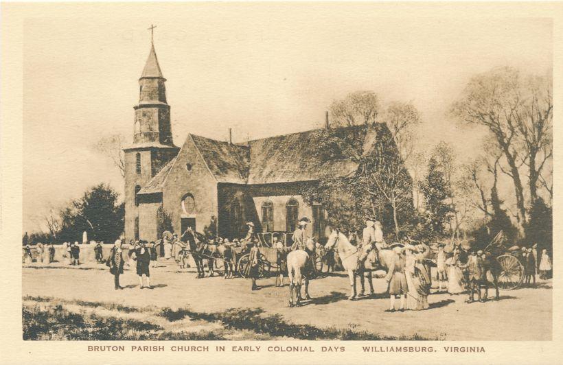 Williamsburg, Virginia - Bruton Parish Church - Early Colonial Days
