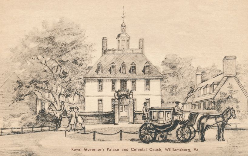 Williamsburg, Virginia - Governor's Palace and Colonial Coach