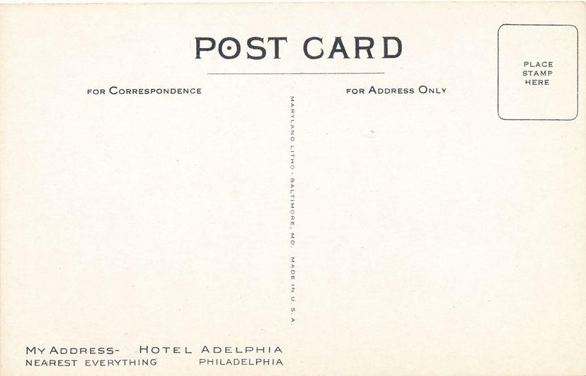 Philadelphia, Pennsylvania - Hotel Adelphia Nearest to Everything - White Border