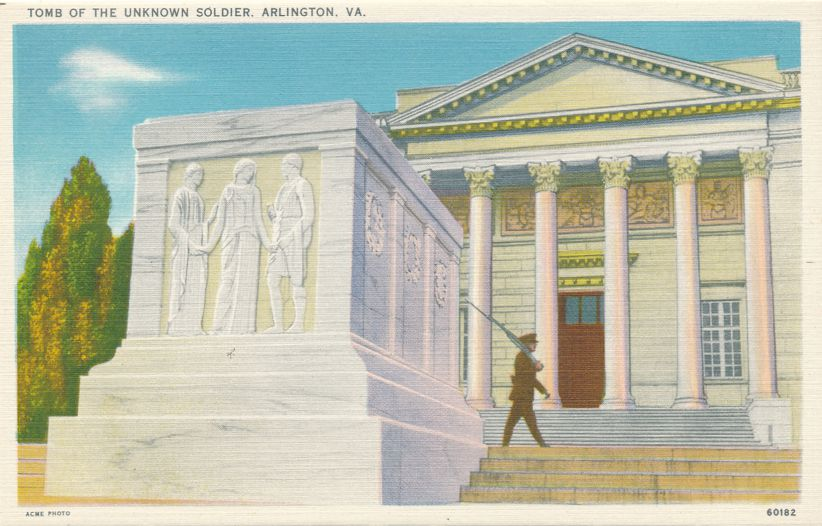 Arlington, Virginia - Tomb of the Unknown Soldier - Linen Card