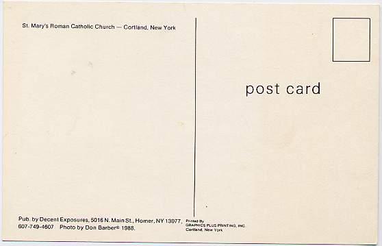 St Mary's Roman Catholic Church - Cortland, New York