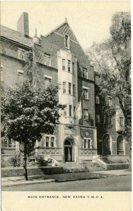 Main Entrance to the YMCA. - New Haven, Connecticut