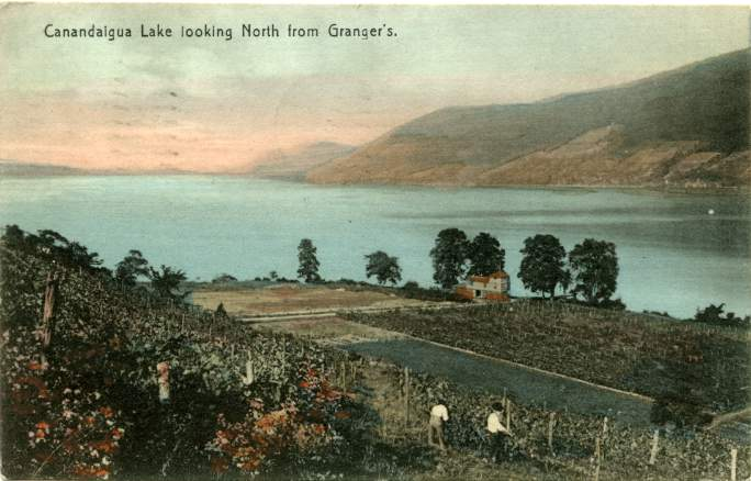 Granger's Point Looking North, Canandaigua Lake, New York pm 1910 at Canandaigua, NY