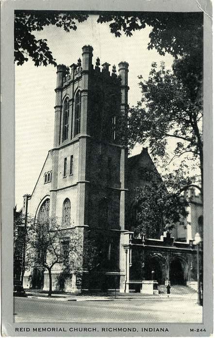 Reid Memorial Church, Richmond, Wayne County, Indiana - pm 1946