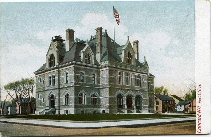 The New United States Post Office, Concord, New Hampshire - Undivided Back