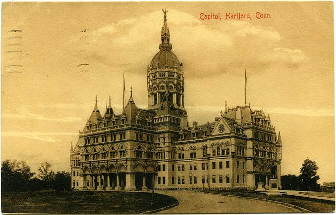 The Capitol Building, Hartford, Connecticut - Divided Back