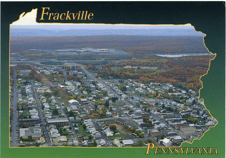 Bird's Eye View of Frackville, Pennsylvania, Schuylkill Mall in Background