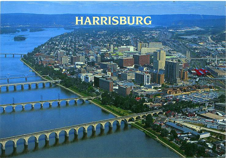 Playle's: Aerial View of Harrisburg, Pennsylvania - Store ...