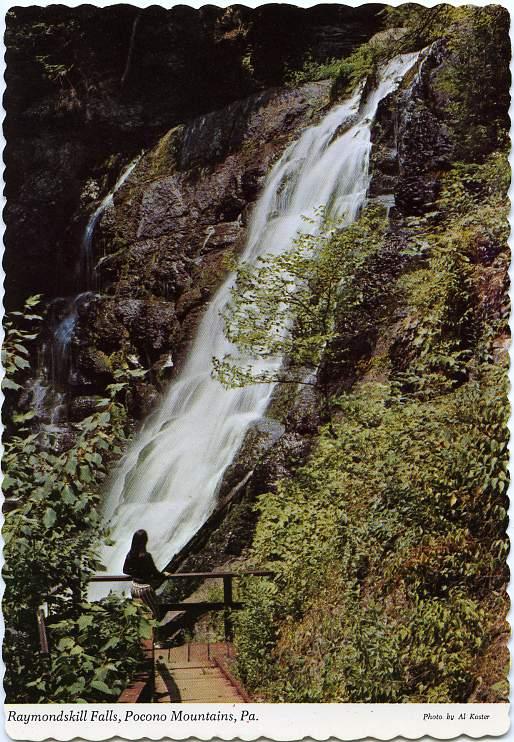 Raymondskill Falls, Pocono Mountains - Near Milford, Pennsylvania