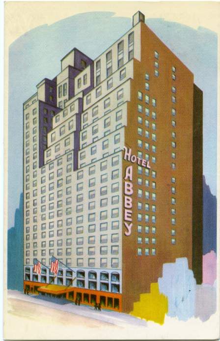 The Hotel Abbey on Seventh Avenue - Near Rockefeller Center - New York City - pm 1963 at Drexel, PA