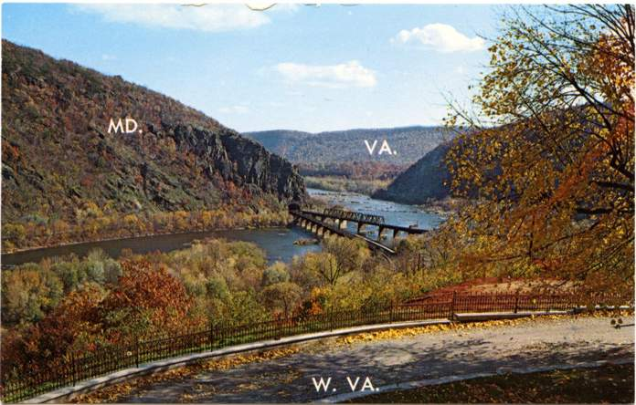 Harpers Ferry, West Virginia - Potomac and Shenandoah Rivers - Maryland and Virginia