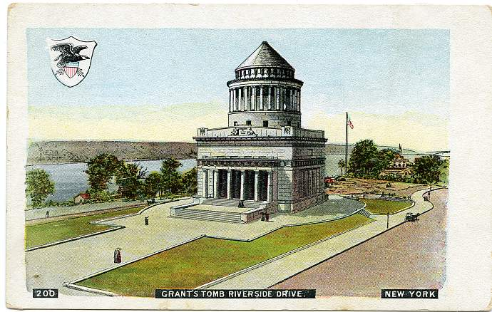 Grant's Tomb on Riverside Drive - New York City - Undivided Back
