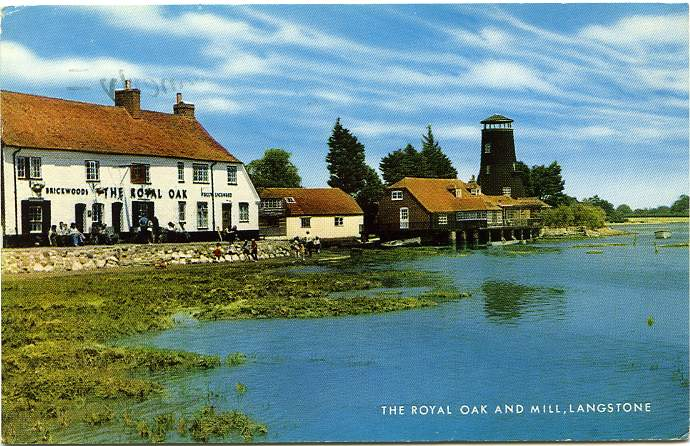 The Royal Oak Pub and Mill - Langstone, Hampshire, England