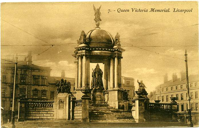 The Queen Victoria Memorial - Liverpool, England - Divided Back