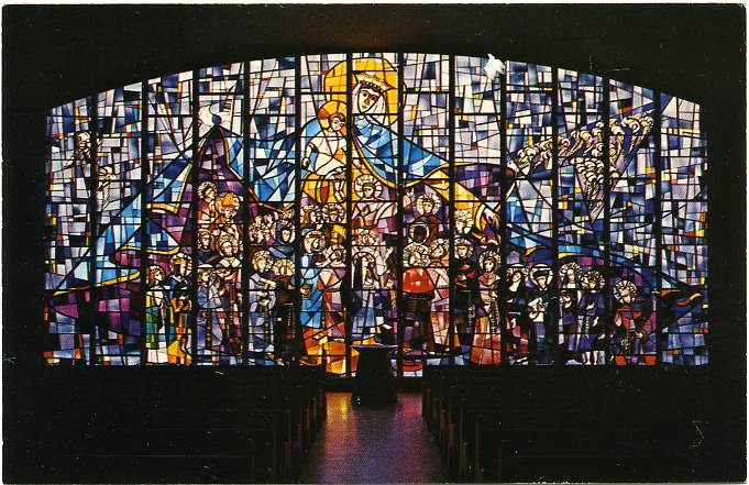 Main Stained Glass Window - Chapel of St Mary Friary - Columbiana, Ohio