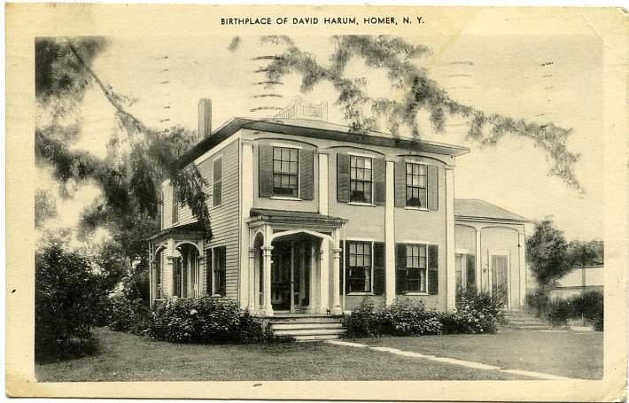 Birthplace of David Harum - Homer, New York - pm 1940