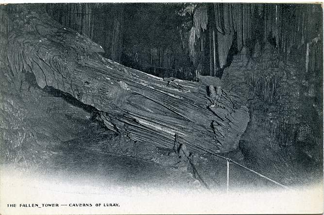 The Fallen Tower - Caverns of Luray - Virginia - Divided Back - Cave