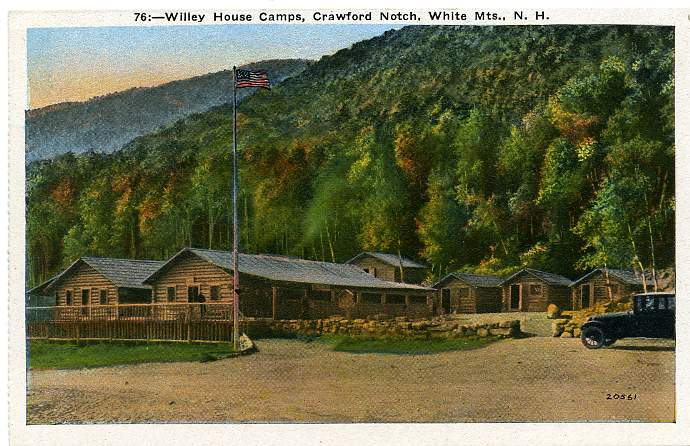 Willey House Camps - Crawford Notch - White Mountains, New Hampshire - White Border