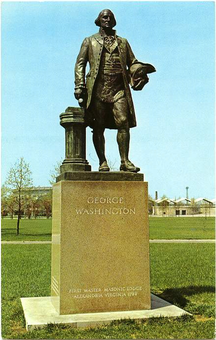 Bronze Statue George Washington - Masonic Brotherhood - Flushing Meadows Park, New York