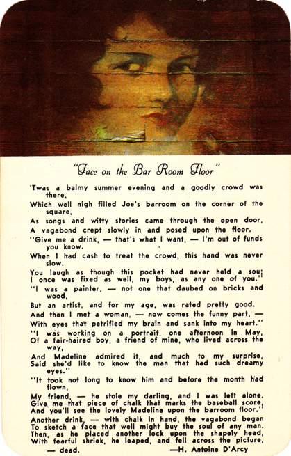 Superb Face On The Bar Room Floor   Poem   Teller House In Central City, Colorado