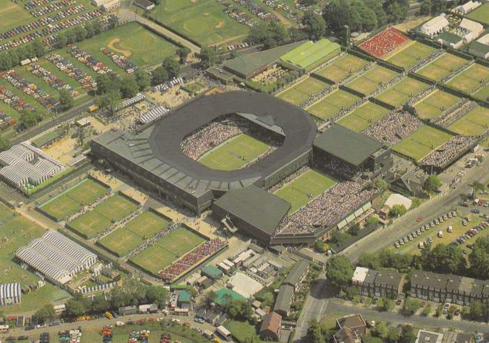 Aerial View of Wimbledon - Surrey, United Kingdom - pm 1995 at Glascow - Tennis