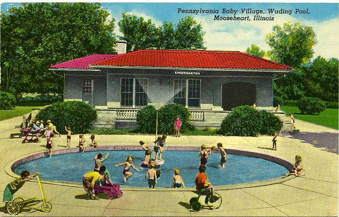 Pennsylvania Baby Village - Wading Pool - Mooseheart, Illinois - pm 1971