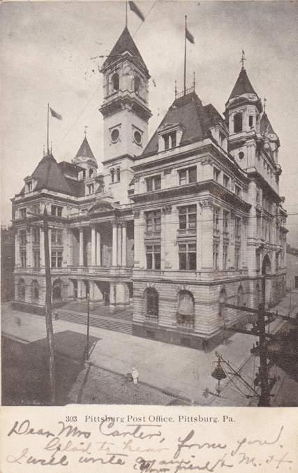 The Pittsburg Post Office - Pittsburg, Pennsylvania - pm 1906
