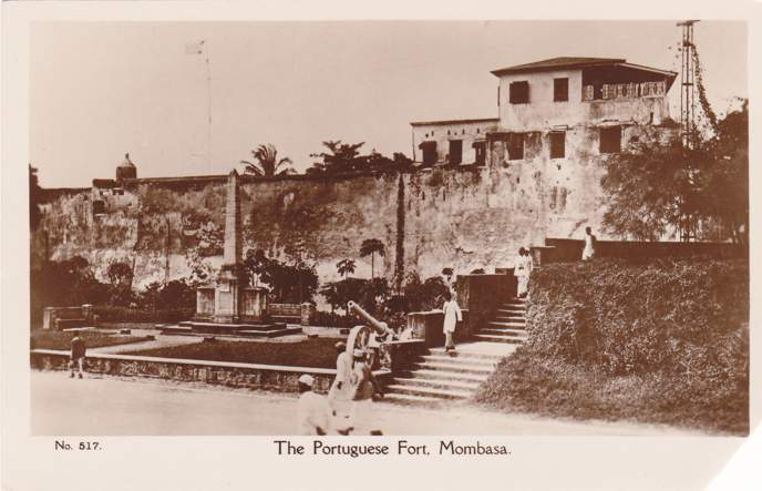 RPPC The Portuguese Fort - Mombasa, Kenya, Africa - Real Photo