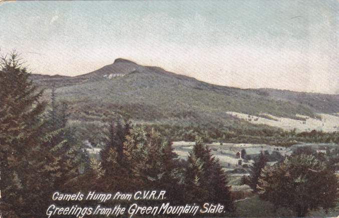 Greetings from Vermont - The Green Mountain State - Camels Hump from C.V.R.R. - Divided Back