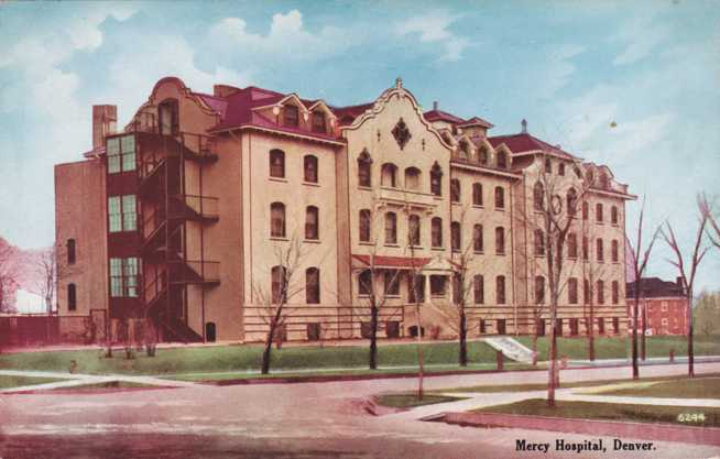 Buy Here Pay Here Denver >> Playle's: Mercy Hospital - Denver, Colorado - Divided Back - 1911 - Store Item# HOMERBOB8823