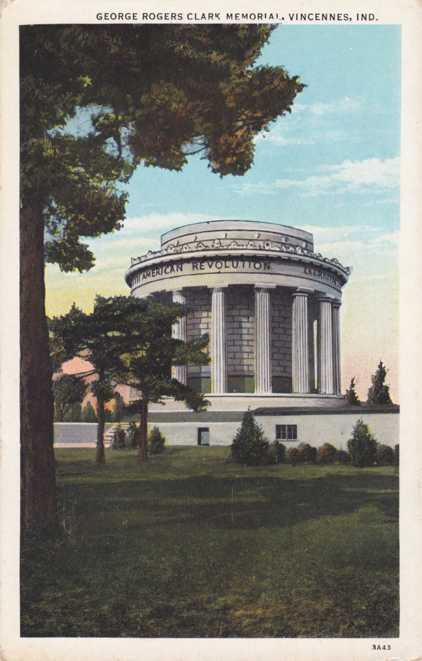 The George Rogers Clark Memorial - Vincennes, Indiana - White Border