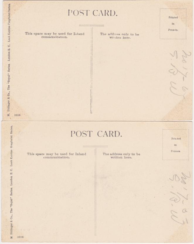 (2 cards) Ellen's Isle in Loch Katrine - Path Along Loch Katrine - Scotland, United Kingdom