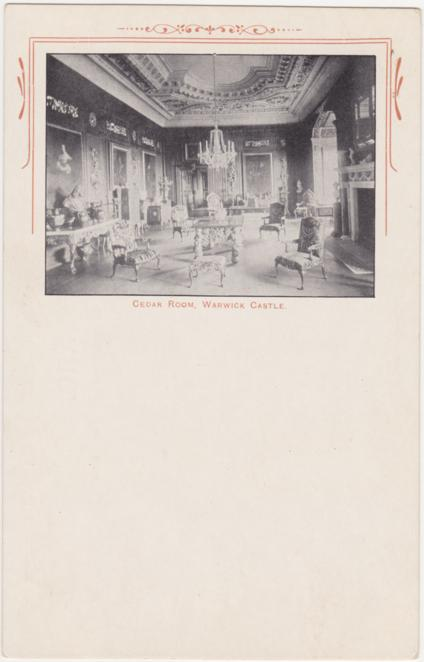 The Cedar Room at Warwick Castle - England - Undivided Back