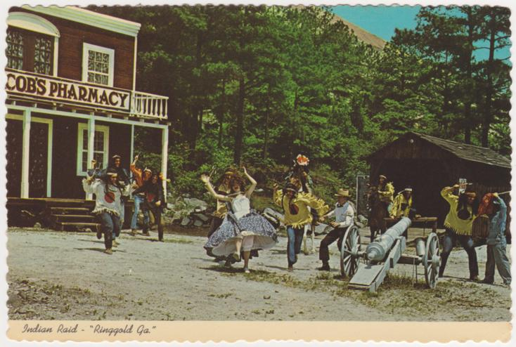 Indian Raid at Ringgold, Georgia - As portrayed for the Stone Mountain Scenic Railway